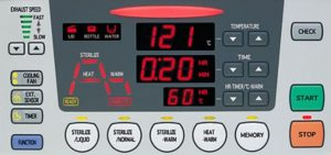 Bảng điều khiển Nồi hấp tiệt trùng Tomy SX-500