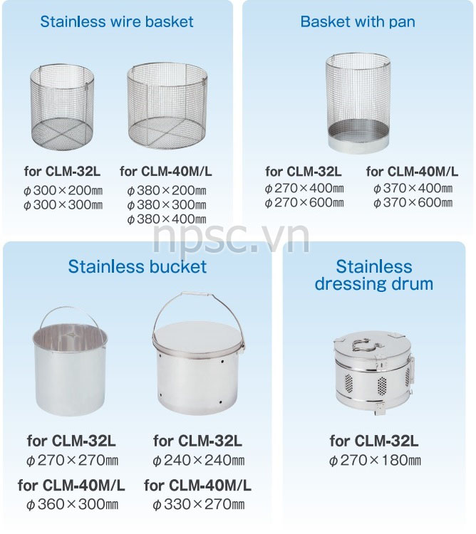Giỏ hấp của nồi hấp tiệt trùng ALP CLM-40L, 105 lít tiêu chuẩn y tế