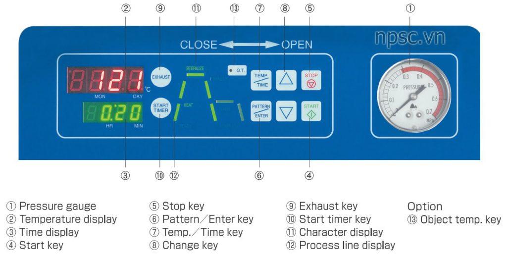 Bảng điều khiển nồi hấp tiệt trùng ALP CLM-40L, 105 lít tiêu chuẩn y tế