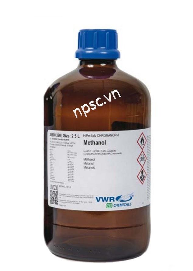 Dung môi HPLC VWR Methanol ≥99.8% gradient grade