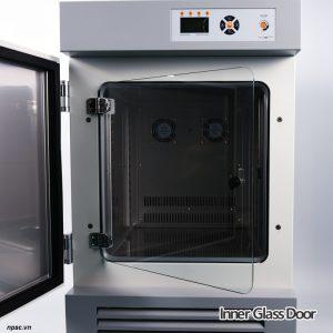 Cửa kính bên trong tủ ấm lạnh BOD 250 lít Lklab model LI-IL250