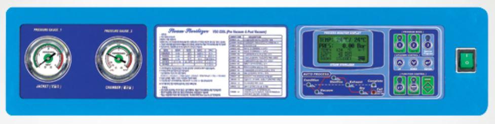 Bảng điều khiển của nồi hấp tiệt trùng dụng cụ y tế 220 lít sấy chân không VSC-220L