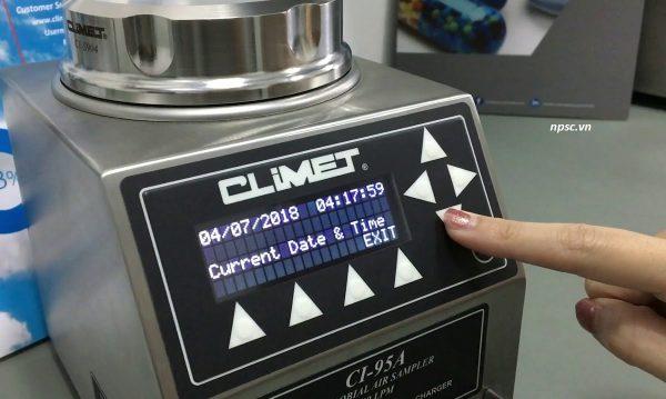 Màn hình máy lấy mẫu vi sinh không khí phòng sạch Climet CI-95A