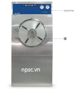 Mặt sau Bảng điều khiển mặt trước Bảng điều khiển mặt sau Nồi hấp tiệt trùng Sturdy SAP-450D/ 500D/ 600D hai cửa