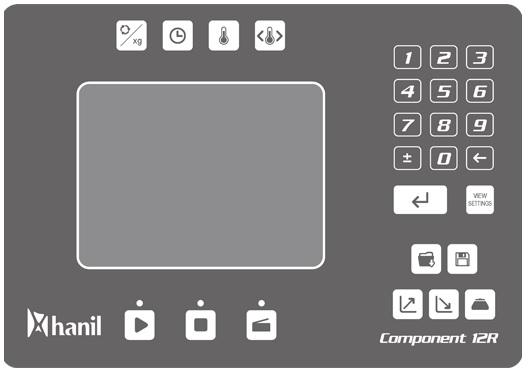 Bảng điều khiển của máy ly tâm công suất lớn Hanil Component R12 / Component 12R