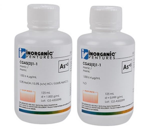Dung dịch chuẩn ICP 1000ppm Inorganic Venture As+3 CGAS(3)1-125ML và As+5 CGAS(5)1-125ML