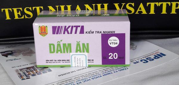 Kit kiểm tra nhanh acid vô cơ trong dấm ăn VT04