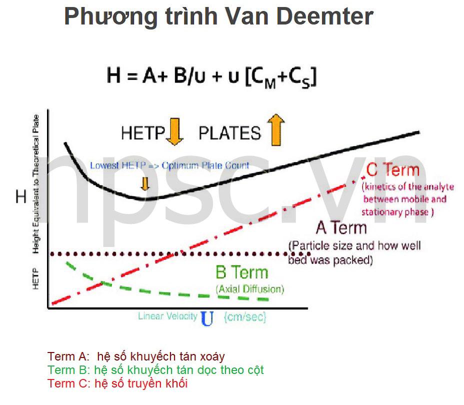 Hướng dẫn lựa chọn cột sắc ký HPLC - Phương trình Van Deemter