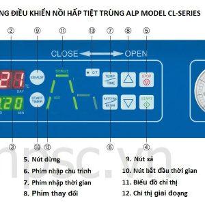 Bảng điều khiển nồi hấp tiệt trùng ALP CL-40SDP, 60 lít có sấy khô