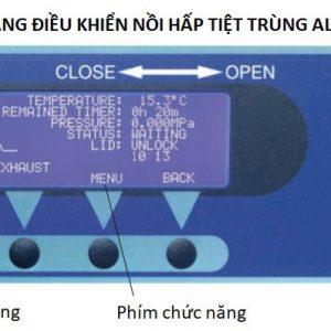 Bảng điều khiển của nồi hấp tiệt trùng ALP CLG-40MDVP, 85 lít sấy chân không