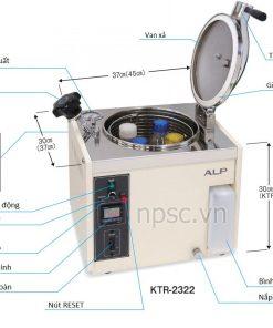 Cấu tạo nồi hấp tiệt trùng ALP KTR-2322 10 lít