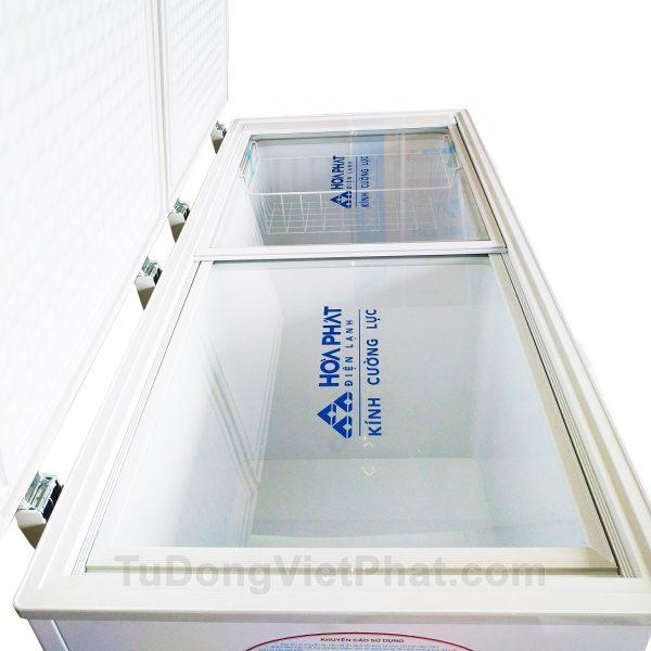 KÍnh cường lực tủ đông Hòa Phát 300l HCF 656S2N2, 2 ngăn đông mát