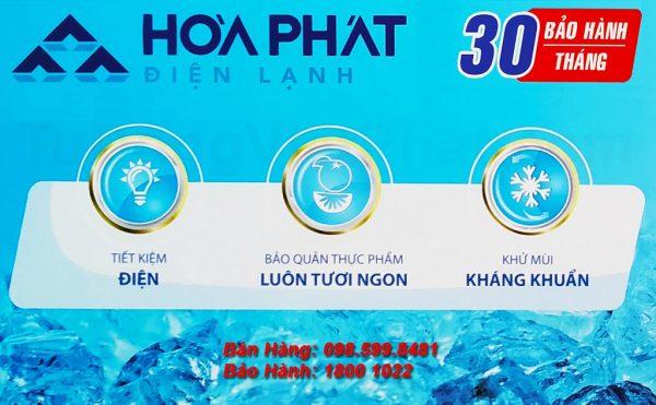 Tủ đông Hòa Phát 400l HCF 666S1Đ2 dàn đồng bảo hành 30 tháng