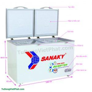 Tủ đông Sanaky VH-2899A3, INVERTER 235L 1 ngăn đông