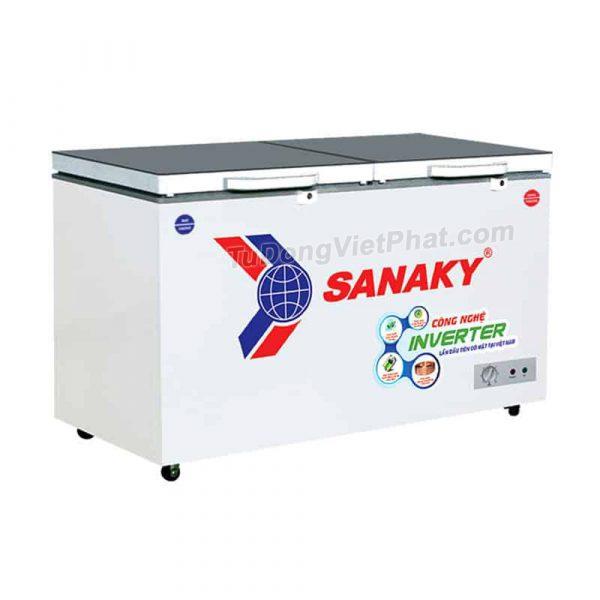 Tủ đông Sanaky VH-4099W4K INVERTER mặt kính cường lực