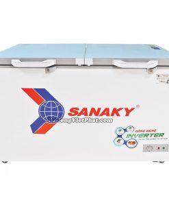 Tủ đông Sanaky INVERTER VH-3699A4KD mặt kính cường lực xanh