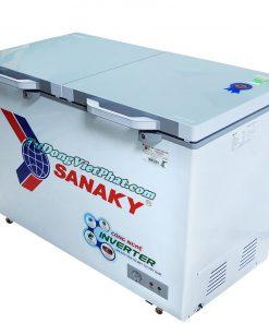 Tủ đông Sanaky INVERTER VH-2899A4KD mặt kính cường lực xanh